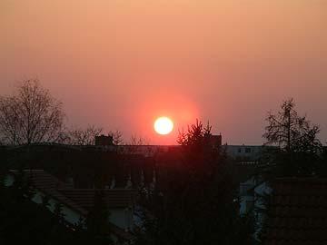 Karlsruhes erster Sommer-Sonnenuntergang