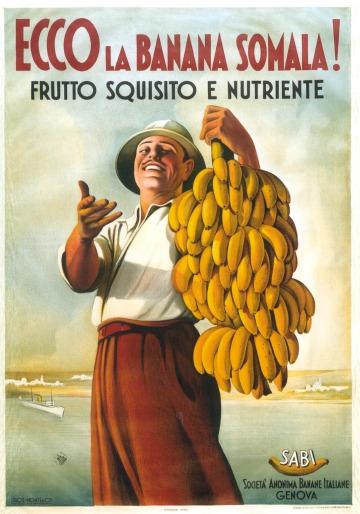Werbeplakat für Bananen
